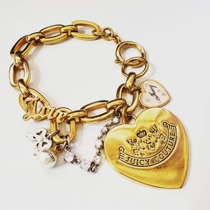 Juicy Couture Chain Link Bracelet with Chain
